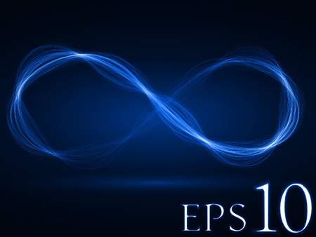 sacred source: energy waves loop (blue colored, wide waves version) Illustration