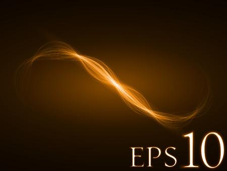 sacred source: energy wave (orange colored, wide waves version)