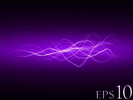 滑らかなエネルギー波 (バイオレット色、広い波バージョン)