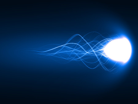 spell: energy comet,magic spell ( blue colored, long tails version)