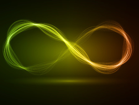 sacred source: energy waves loop (red,green and yellow colored, wide waves version) Stock Photo