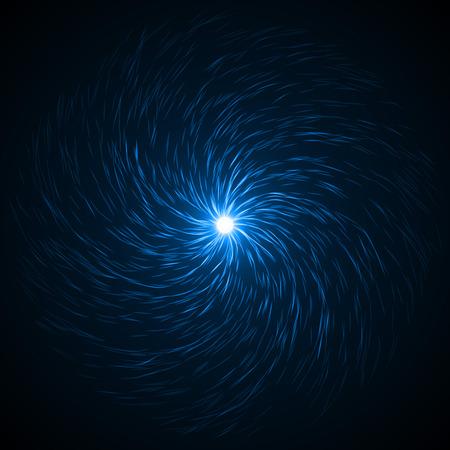 souls swarm in the dark ( blue colored, soft vortex version.) 스톡 콘텐츠