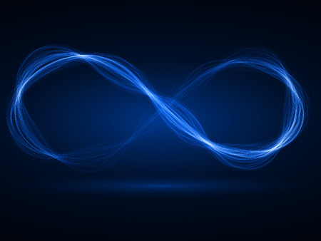 sacred source: energy waves loop (blue colored, wide waves version) Stock Photo