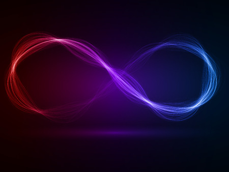 energy waves loop (red,violet and blue colored,wide  waves version) Stock fotó