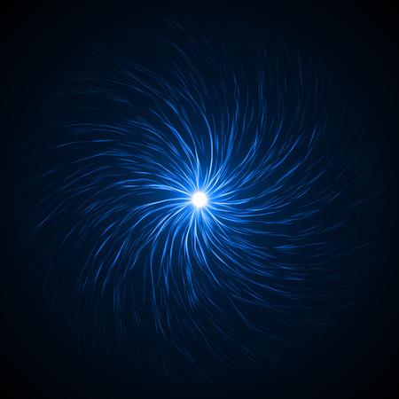 swarm: souls swarm in the dark ( blue colored, soft vortex version.) Stock Photo