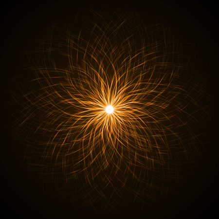 swarm: souls swarm in the dark ( orange colored,dual vortex version) Stock Photo