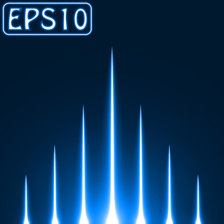 laser beam: rising light rays.(blue colored version)