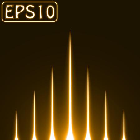 sacred source: rising light rays.(golden colored version) Illustration