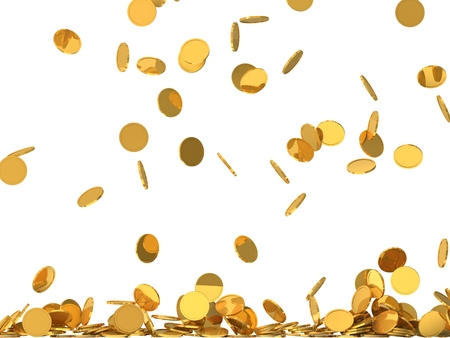 falling: free falling golden coins.