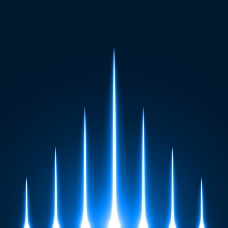 sacred source: rising light rays.(blue colored version)