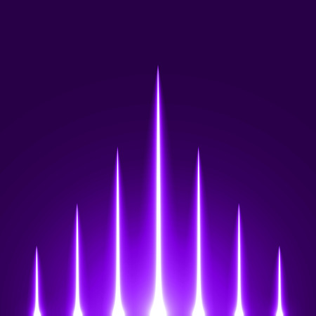 sacred source: rising light rays.(violet colored version)