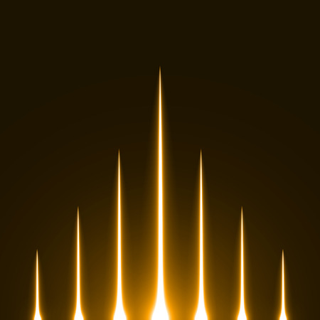 fusion: rising light rays.(golden colored version) Stock Photo