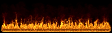 meltdown: fire wall concept background for header(short flames version)