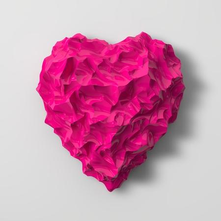 sized: pink heart shaped gem illustration(small sized cracks version)
