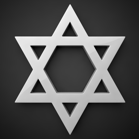 estrella de david: icono de brillo de la estrella de los davids