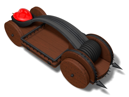 catapult: conceptual catapult design (charget with red heart)