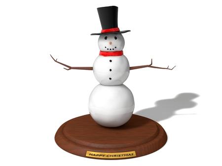 first grade: snowman figure on wooden platform