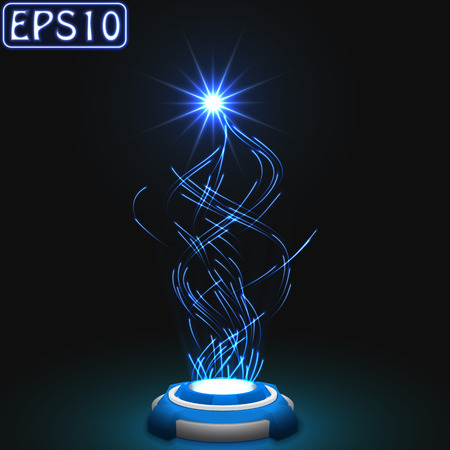 released energy particles swarm. (glowing particles version) Vector