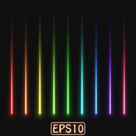 레이저 광선 (고 에너지로드 입자의 흔적입니다.) 일러스트