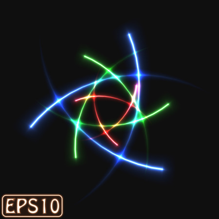 laser rays (high energy loaded particle trail.stacked version) Vectores