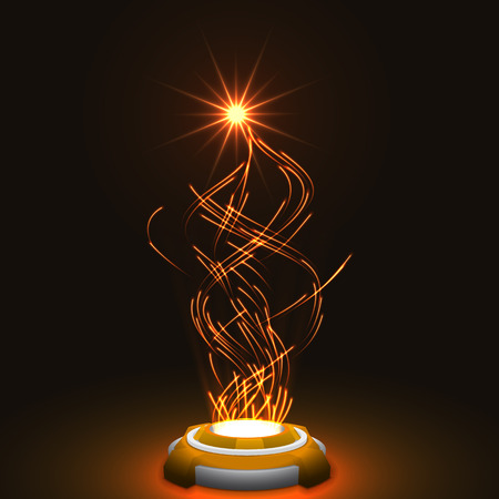resale: released energy particles swarm.(glowing particles.orange version) Stock Photo