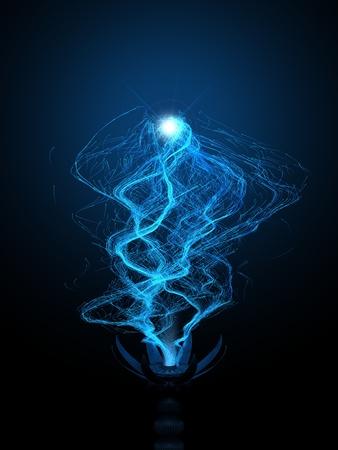 Released energy. Concept for : energy, power, soul, magic, micro robots swarm, particles, fairies,  etc.