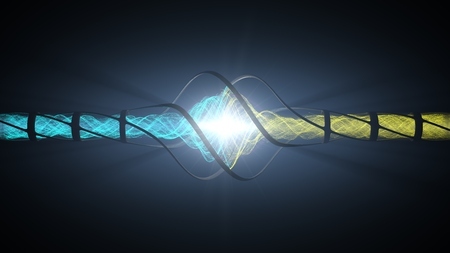 powerful energy reaction in reactor core.(electron collider machine concept.)