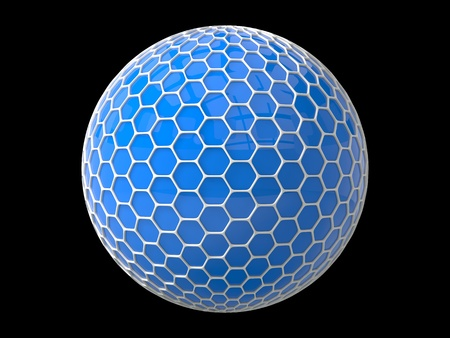 plated: hexagons plated sphere
