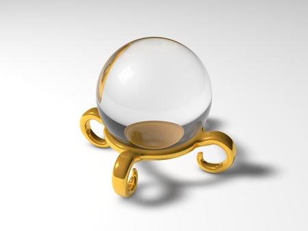 seer: seer sphere (golden version) Stock Photo