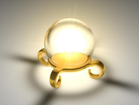 seer sphere (glowing sphere and golden platform version.) photo