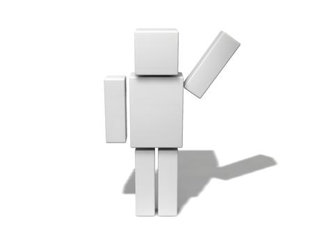 cubic: simple 3d cubic character.
