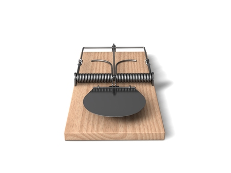 3d mouse: 3d mouse trap with wooden body and metal details.