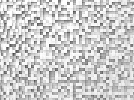 shifted: random elevated geometric shapes background (white cubes version)