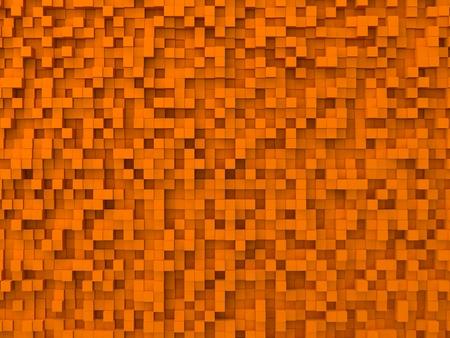 shifted: random elevated geometric shapes background (orange blue cubes version)