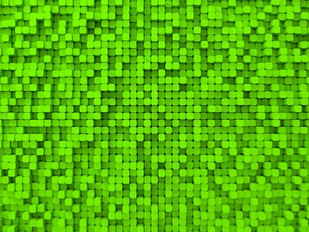 elevated: random elevated geometric shapes background (rounded columns,green version.)