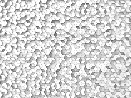 shifted: random elevated geometric shapes background (white version.)