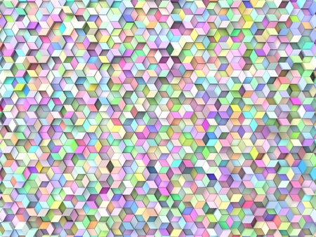 many coloured: random elevated geometric shapes background (random color version.) Stock Photo
