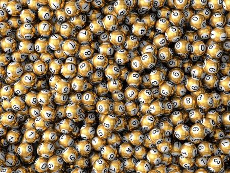Golden Lotteriekugeln Standard-Bild - 43936231