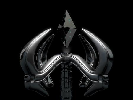 mano robotica: mano robótica y cristal