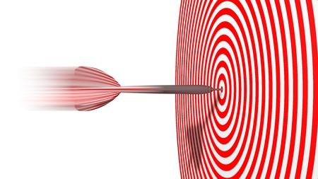 hit: dart. hit moment. Stock Photo