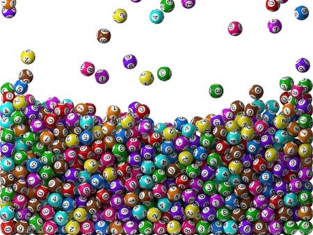 lottery balls rain, filling screen.big balls version.