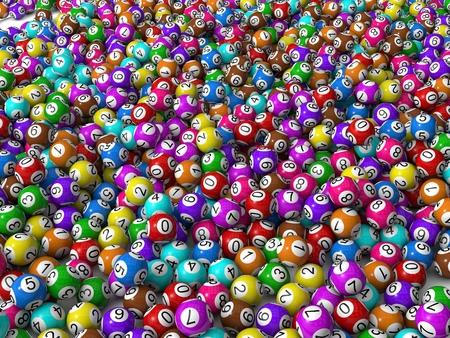 lottery win: lottery balls Stock Photo