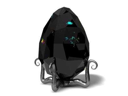 jeweled: easter egg crystal.dark version. Stock Photo