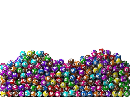 lottery win: lottery balls stack