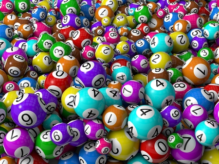 random sized lottery balls