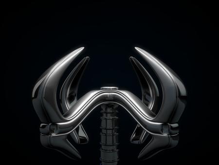 source of iron: robotic hand Stock Photo