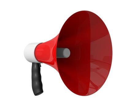 amplification: red megafone