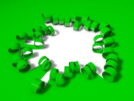 unfold: 3d folding stripes, green version