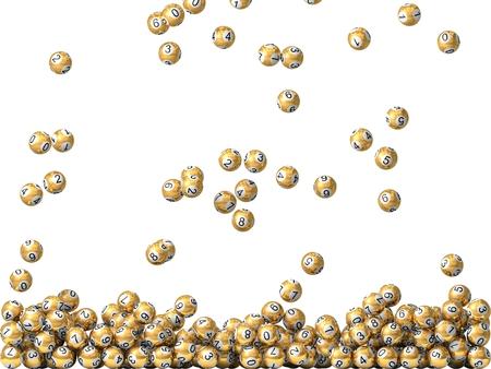 金色抽選ボール雨で画面を埋めます。 写真素材