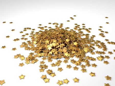 rating: golden rating stars stack Stock Photo